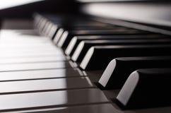 Sikt för sida för pianotangentbord - sepia fotografering för bildbyråer