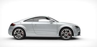 Sikt för sida för silveraffär bil- Arkivbilder