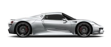 Sikt för sida för silverspors bil- Arkivfoto
