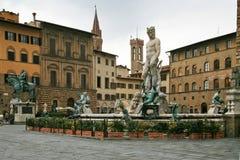 sikt för signoria för dellaflorence piazza Arkivbild