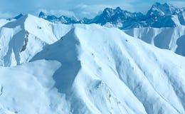 Sikt för Silvretta fjällängvinter (Österrike) Royaltyfri Bild