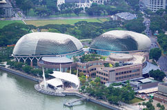 Sikt för Singapore operabyggnad i Singapore Royaltyfri Foto