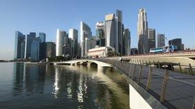 Sikt för Singapore stadssoluppgång stock video