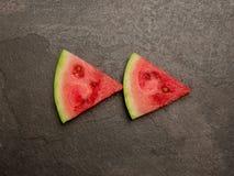 Sikt för skiva för vattenmelontillbakaspolningknapp bästa Royaltyfria Bilder