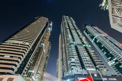 sikt för skyskrapor för dubai marinahav Royaltyfria Bilder