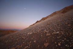 sikt för solnedgång för atacamachile öken Arkivfoton