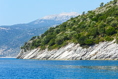Sikt för sommarKefalonia kust (Grekland) Royaltyfri Fotografi