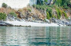 Sikt för sommarKefalonia kust (Grekland) Fotografering för Bildbyråer