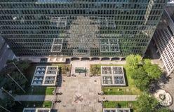 Sikt för ställeVille Marie belvedere från det 19th golvet Royaltyfri Bild