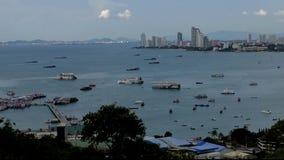 sikt för stadsfisherpattaya pir s thailand Pattaya condo Naklua sikt royaltyfria bilder