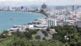 sikt för stadsfisherpattaya pir s thailand Pattaya condo Pattaya - strand Rpad royaltyfri foto