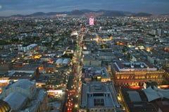 sikt för stadsmexico solnedgång Royaltyfri Fotografi