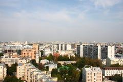 sikt för stadsmoscow panorama- horisont Arkivbilder