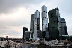 sikt för stadsmoscow skyskrapa Royaltyfri Bild