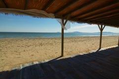 sikt för strandhavssky arkivfoton