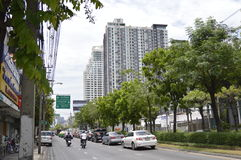 Sikt för Sukhumvit 42 väggata i Sukhumvit Bangkok Thailand Royaltyfri Fotografi