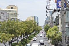 Sikt för Sukhumvit 42 väggata i Sukhumvit Bangkok Thailand Royaltyfri Bild