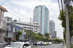 Sikt för Sukhumvit 42 väggata i Sukhumvit Bangkok Thailand Arkivbilder