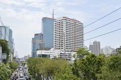 Sikt för Sukhumvit 42 väggata i Sukhumvit Bangkok Thailand Royaltyfri Foto