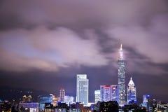 Sikt för Taipei stadsnatt Royaltyfri Foto