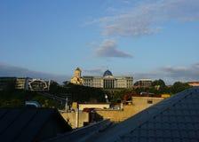 Sikt för Tbilisi presidentpalatstak royaltyfri bild