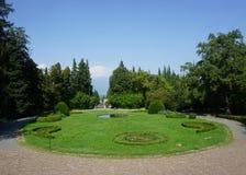 Sikt för Telavi Tsinandali slottträdgård arkivfoto