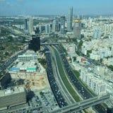 Sikt för telefon Aviv Yafo Arkivfoto
