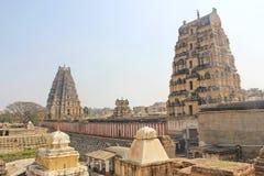 Sikt för tillbaka sida för Virupaksha tempel, Hampi, Indien Royaltyfri Fotografi