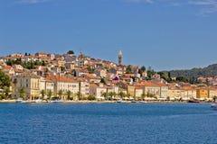 sikt för town för adriatic losinjmali hav Royaltyfria Bilder