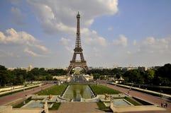 sikt för trocadero för eiffel torn Fotografering för Bildbyråer