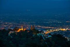 sikt för ukrain för stadskiev natt Royaltyfria Bilder