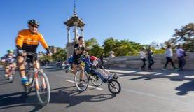 Sikt för ultra bred vinkel för maratonlöpare främre Royaltyfri Bild