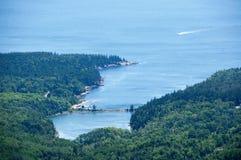 sikt för USA för acadiamaine nationalpark royaltyfri bild