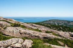 sikt för USA för acadiamaine nationalpark arkivfoton