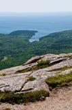 sikt för USA för acadiamaine nationalpark arkivbilder