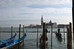 Sikt för Venedig stadsdag Arkivbilder