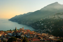 sikt för vietri för sul för amalfi kustmare Fotografering för Bildbyråer