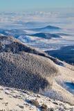Sikt för vinterTatra berg royaltyfri bild