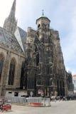 Sikt för yttersida för domkyrka för St Stephen ` s, Wien Royaltyfri Bild
