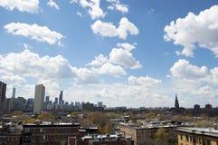 sikt för chicago daghorisont Arkivbild