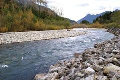 sikt för höstchilliwackflod Arkivfoton