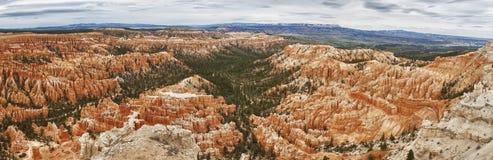 sikt för park för brycekanjon panorama- arkivbild