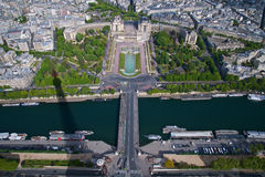 Sikt från överkant av Eiffeltorn Royaltyfri Fotografi