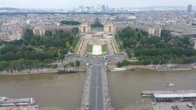Sikt från överst av Eiffeltorn Royaltyfri Fotografi