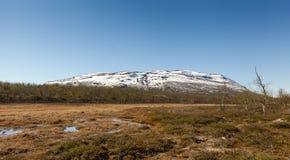 Sikt från abiskonationalparken ovanför den polara cirkeln, arktisk cirkel i Lapland nordliga Sverige Royaltyfria Bilder