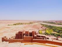 Sikt från Ait Benhaddou, Marocko Royaltyfri Foto