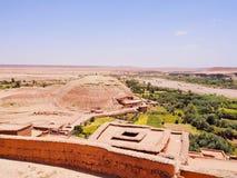Sikt från Ait Benhaddou, Marocko Royaltyfria Foton