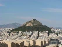 Sikt från akropolen Arkivfoton