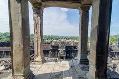 Sikt från Angkor Wat Tower Arkivbilder