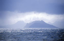 Sikt från Antarktis över Drake Passage av uddehornet och Tierra del Fuego Royaltyfri Bild